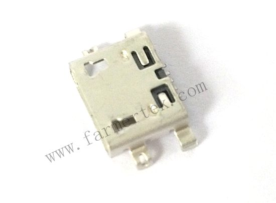 MICRO USB 5PIN PH:0.65mm H:2.45mm       DIP TYPE INSERT 1.60MM